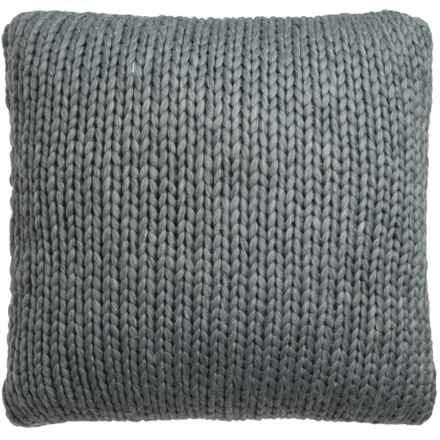 "Nicole Miller Atelier Himalaya Knit Decor Pillow - 26x26"" in Dark Grey - Closeouts"