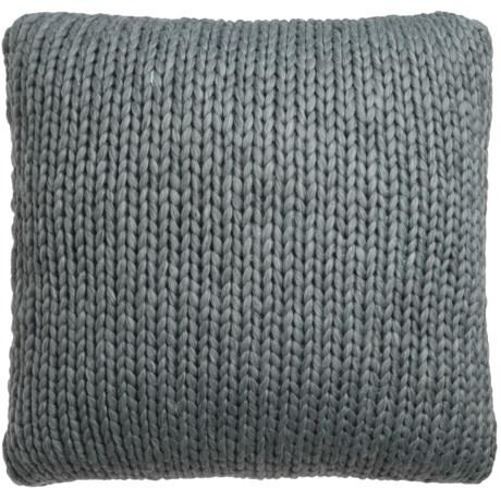 """Nicole Miller Atelier Himalaya Knit Decor Pillow - 26x26"""" in Dark Grey"""