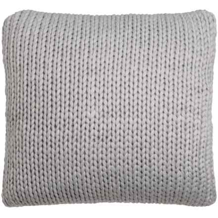 "Nicole Miller Atelier Himalaya Knit Decor Pillow - 26x26"" in Light Grey - Closeouts"