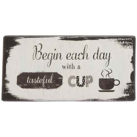 """Nicole Miller """"Begin Each Day"""" Anti-Fatigue Kitchen Mat - 20x39"""" in See Photo - Closeouts"""