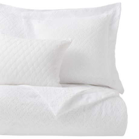 Nicole Miller Bennett Jacquard Comforter Set Queen 5 Piece In White