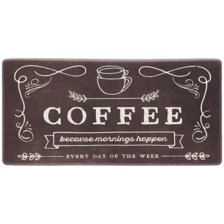 "Nicole Miller ""Coffee Because"" Anti-Fatigue Kitchen Mat - 20x39"" in See Photo"
