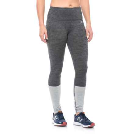 Nicole Miller Color-Blocked Leggings (For Women) in Medium Grey Htr - Closeouts