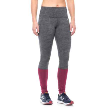 Nicole Miller Color-Blocked Leggings (For Women) in Red Plum Htr - Closeouts