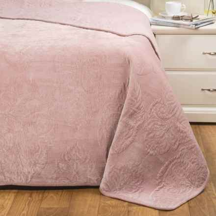 Nicole Miller Concorde Kuras Velvet Quilt - Full-Queen in Blush - Closeouts