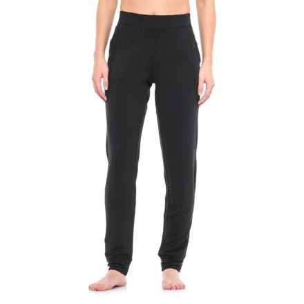Nicole Miller Drapey French Terry Joggers (For Women) in Black - Closeouts