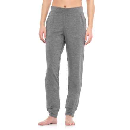 Nicole Miller Drapey French Terry Joggers (For Women) in Flint Grey Heather - Closeouts