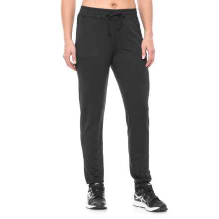 Nicole Miller Drapey French Terry Slim Lounge Pants (For Women) in Black - Closeouts