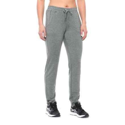 Nicole Miller Drapey French Terry Slim Lounge Pants (For Women) in Flint Grey Heather - Closeouts