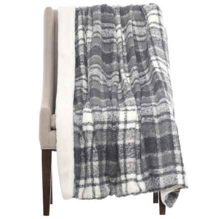 "Nicole Miller Ernest Throw Blanket - Reversible, 50x60"" in Blue/White - Closeouts"