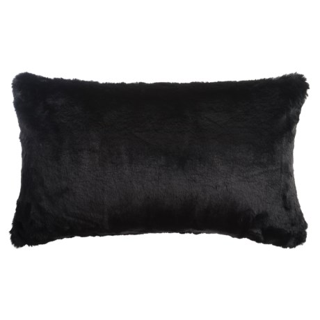 "Nicole Miller Faux-Fur Bobby Accent Pillow - 14x24"""