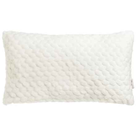 "Nicole Miller Faux-Fur Throw Pillow - 14x24"" in Ivory - Closeouts"