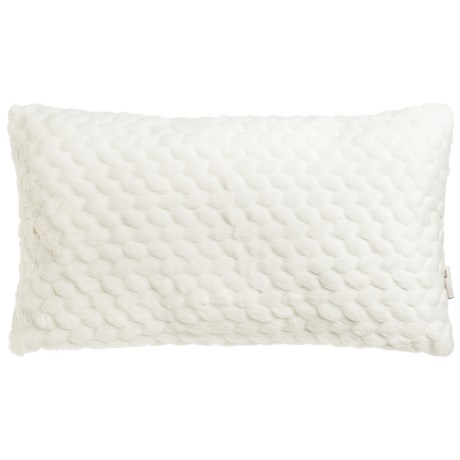 """Nicole Miller Faux-Fur Throw Pillow - 14x24"""" in Ivory"""