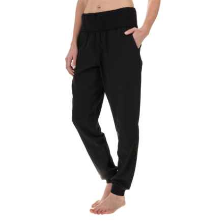 Nicole Miller Fold-Over Waist Joggers (For Women) in Black - Closeouts