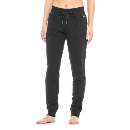 Nicole Miller French Terry Joggers - Sport Mesh Pockets (For Women) in Black - Closeouts