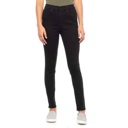 Nicole Miller High Rise Skinny Black Wash Jeans (For Women) in Black Wash - Closeouts