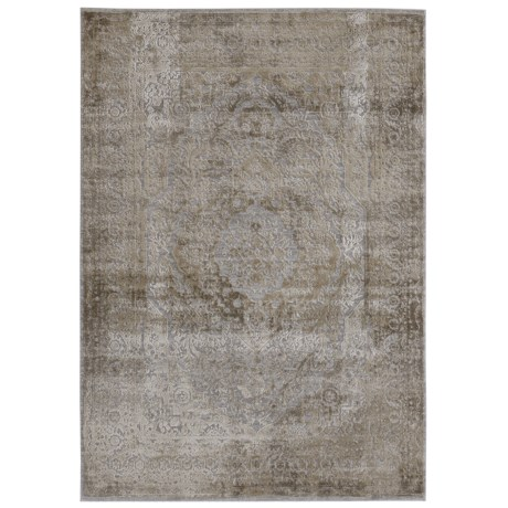 """Nicole Miller Kenmare Collection Area Rug - 5'3""""x7'2"""" in Grey/Oat"""