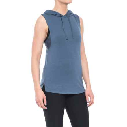 Nicole Miller Laser Mesh Hooded Tank Top (For Women) in Vintage Indigo - Closeouts