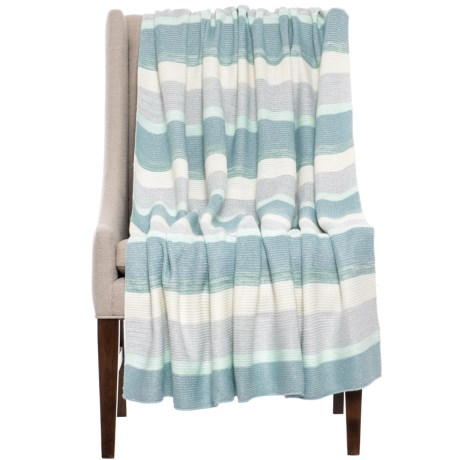 "Nicole Miller Mallorca Throw Blanket - 50x60"" in Blue"