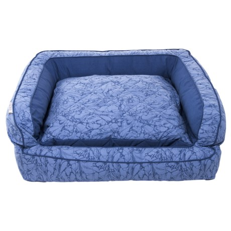 """Nicole Miller Marble X-Large Bolster Bed - 36x27"""" in Blue"""