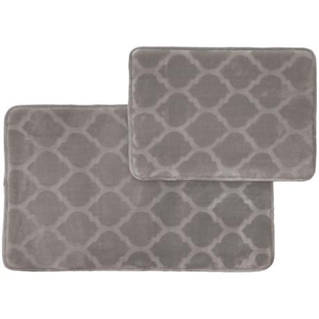 Nicole Miller Memory-Foam Bath Mat Set - 2-Piece in Grey