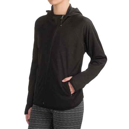 Nicole Miller New York Active Dolman Hoodie - Full Zip (For Women) in Black Heather - Closeouts