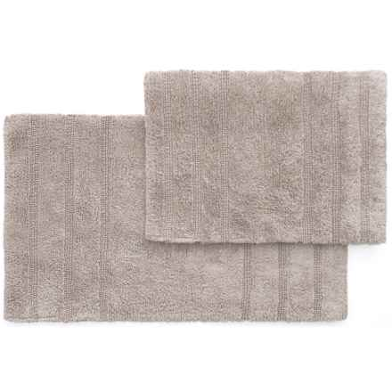 "Nicole Miller Newton Stripes Bath Rug Set - 17x24"", 21x34"", Gray in Gray - Closeouts"