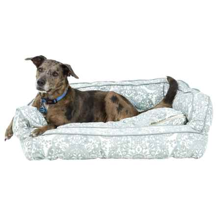 """Nicole Miller Pauline Canvas Bolster Dog Bed - XL, 36x27"""" in Taupe - Overstock"""
