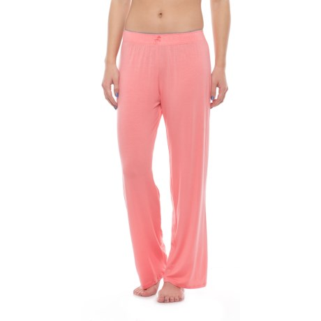 Nicole Miller Picot Pajama Pants (For Women) in Sunstroked Coral
