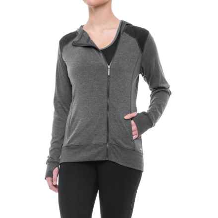 Nicole Miller Quilt-Blocked Hoodie (For Women) in Charcoal Heather - Closeouts