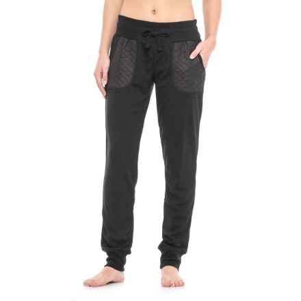 Nicole Miller Quilt Blocked Joggers (For Women) in Black - Closeouts