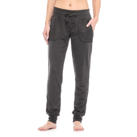 Nicole Miller Quilt Blocked Joggers (For Women) in Charcoal Heather