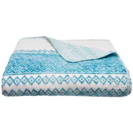 Nicole Miller Rachel Stripe Quilt - King in Blue - Closeouts