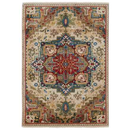 "Nicole Miller Ridgefield Medallion Collection Area Rug - 5'2""x7'2"" in Cream - Closeouts"