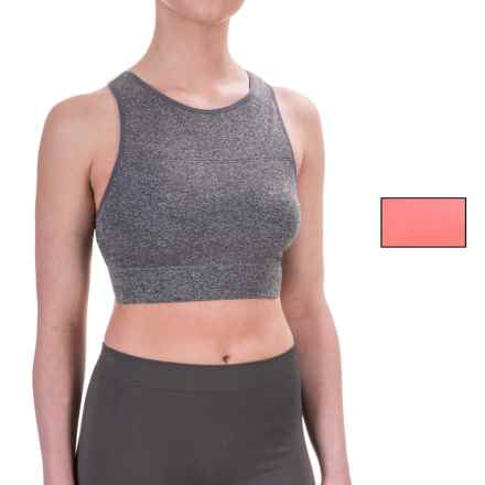 Nicole Miller Seamless Bra - 2-Pack (For Women) in Charcoal Heather Grey/Pink Citrus - Closeouts