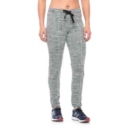Nicole Miller Space-Dye French Terry Track Pants (For Women) in Black Heather - Closeouts