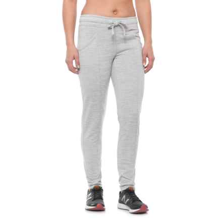 Nicole Miller Space-Dye French Terry Track Pants (For Women) in Grey Heather - Closeouts