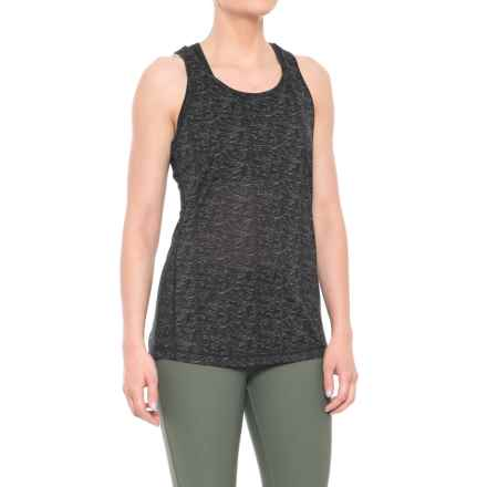 Nicole Miller Space-Dye Keyhole Tank Top (For Women) in Black - Closeouts