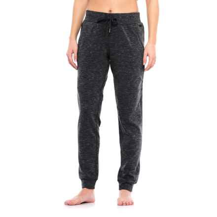 Nicole Miller Space-Dyed Fleece Joggers (For Women) in Black Heather - Closeouts