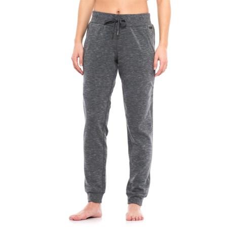 Nicole Miller Space-Dyed Fleece Joggers (For Women) in Medium Grey Htr