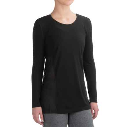 Nicole Miller Sport Mesh Shirt - Long Sleeve (For Women) in Black - Closeouts