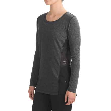 Nicole Miller Sport Mesh Shirt - Long Sleeve (For Women) in Charcoal Heather - Closeouts
