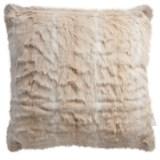 "Nicole Miller Striped Wolf Pillow - 20x20"", Faux Fur"
