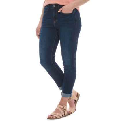 Nicole Miller Studio High-Rise Classic Cuffed Skinny Jeans (For Women) in Dark Blue - Closeouts