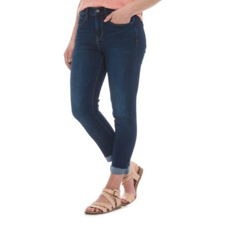 Nicole Miller Studio High-Rise Classic Cuffed Skinny Jeans (For Women) in Dark Blue