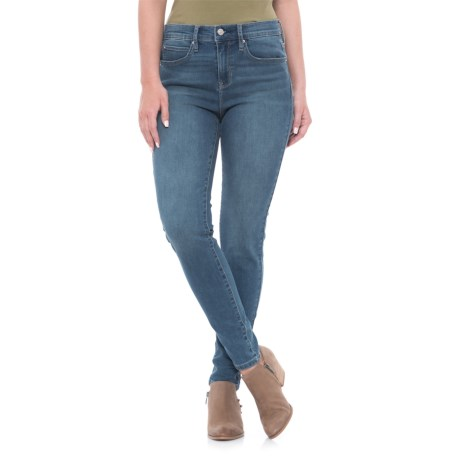 Nicole Miller Studio High-Rise Skinny Jeans (For Women) in Medium Wash