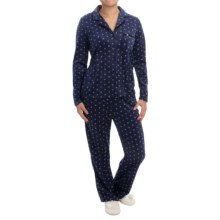 Nicole Miller Sueded Microfleece Pajamas - Long Sleeve (For Women) in Rav Mini Geo - Closeouts