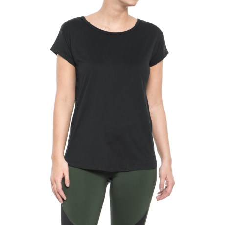 Nicole Miller T-Back T-Shirt - Short Sleeve (For Women) in Black