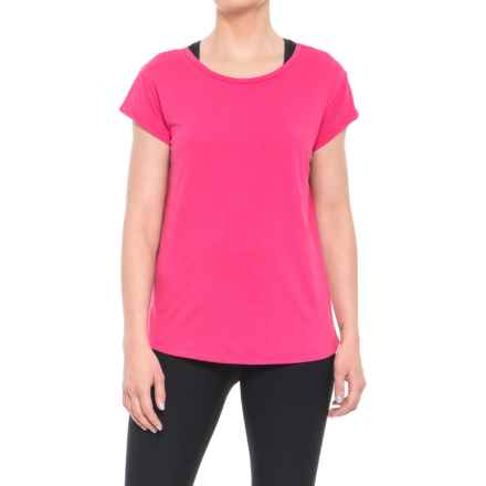 Nicole Miller T-Back T-Shirt - Short Sleeve (For Women) in Pink Peacock - Closeouts