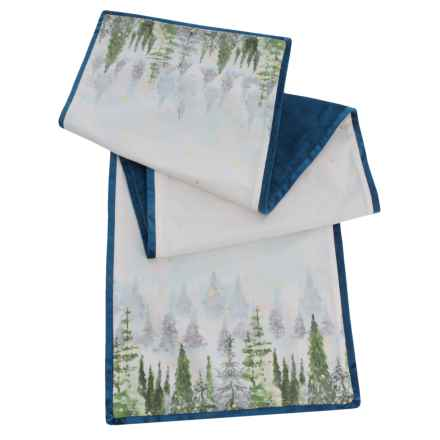 "Nicole Miller Twilight Trees Canvas Table Runner - 16x72"" in Multi - Closeouts"